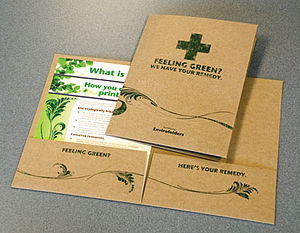Environmentally Friendly printed folders