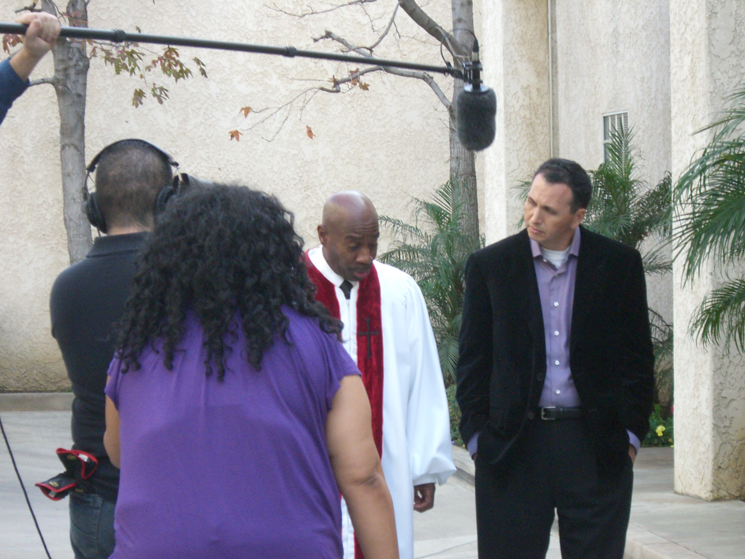 Pastor Edwards from Pasadena in a scene